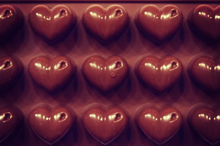 たくさん並んだチョコレート