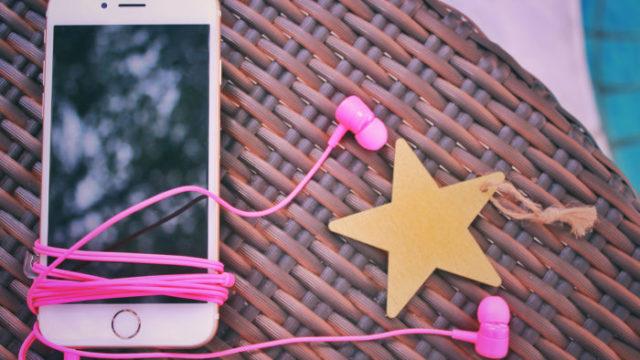 音楽を聴くためのスマホとイヤフォン