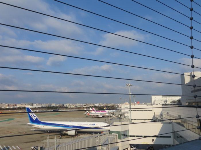 福岡空港に停機中のANA機体